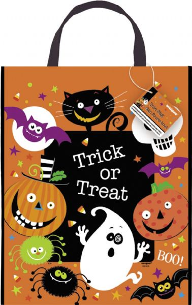 Large Spooky Smiles Halloween Tote Bag